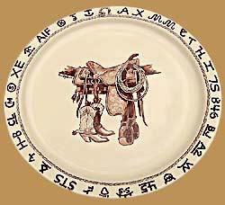 BS14 Boots & Saddle Pattern Round Serving Platter