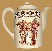 Boots & Saddle Pattern Tea Pot / Coffee Server