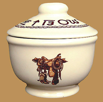 "Boots & Saddle Sugar Bowl w Lid 5"" x 4"""