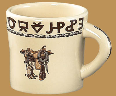 Boots & Saddle Texas Mug, 13 oz.
