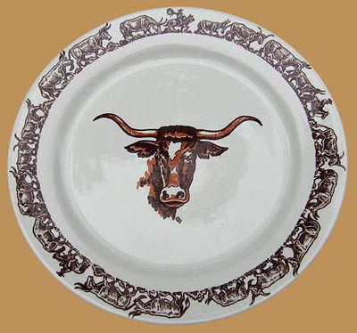 Longhorn Lunch Plate, 9 1/2""