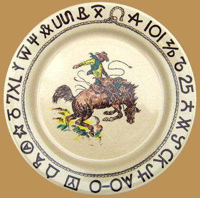 """Rodeo Dinner Plate, 11"""""""