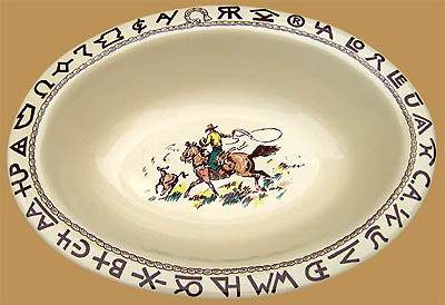 "Rodeo Oval Serving Bowl, 12 1/2"" x 9 1/2"""