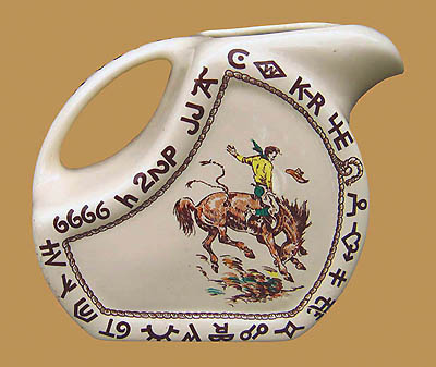 "Rodeo Water / Ice Tea Pitcher, 72 oz., 8"" x 5"""