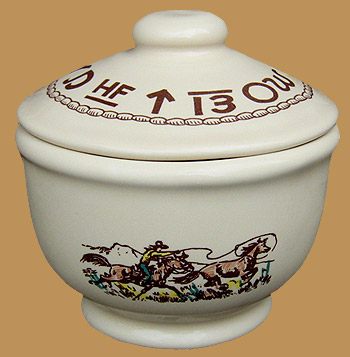 "Rodeo Sugar Bowl w Lid, 5"" x 4"""