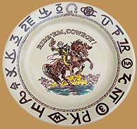 LB01 Little Buckaroo Plate