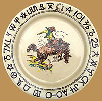 RD01 Rodeo Pattern Dinner Plate