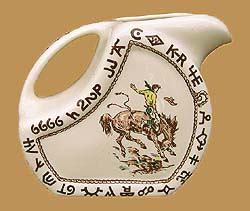 RD15 Rodeo Pattern Water / Ice Tea Pitcher