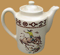 RD16 Rodeo Pattern Tea Pot / Coffee Server