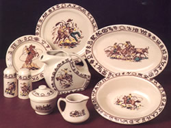 Westward Ho Rodeo Pattern Western dinnerware